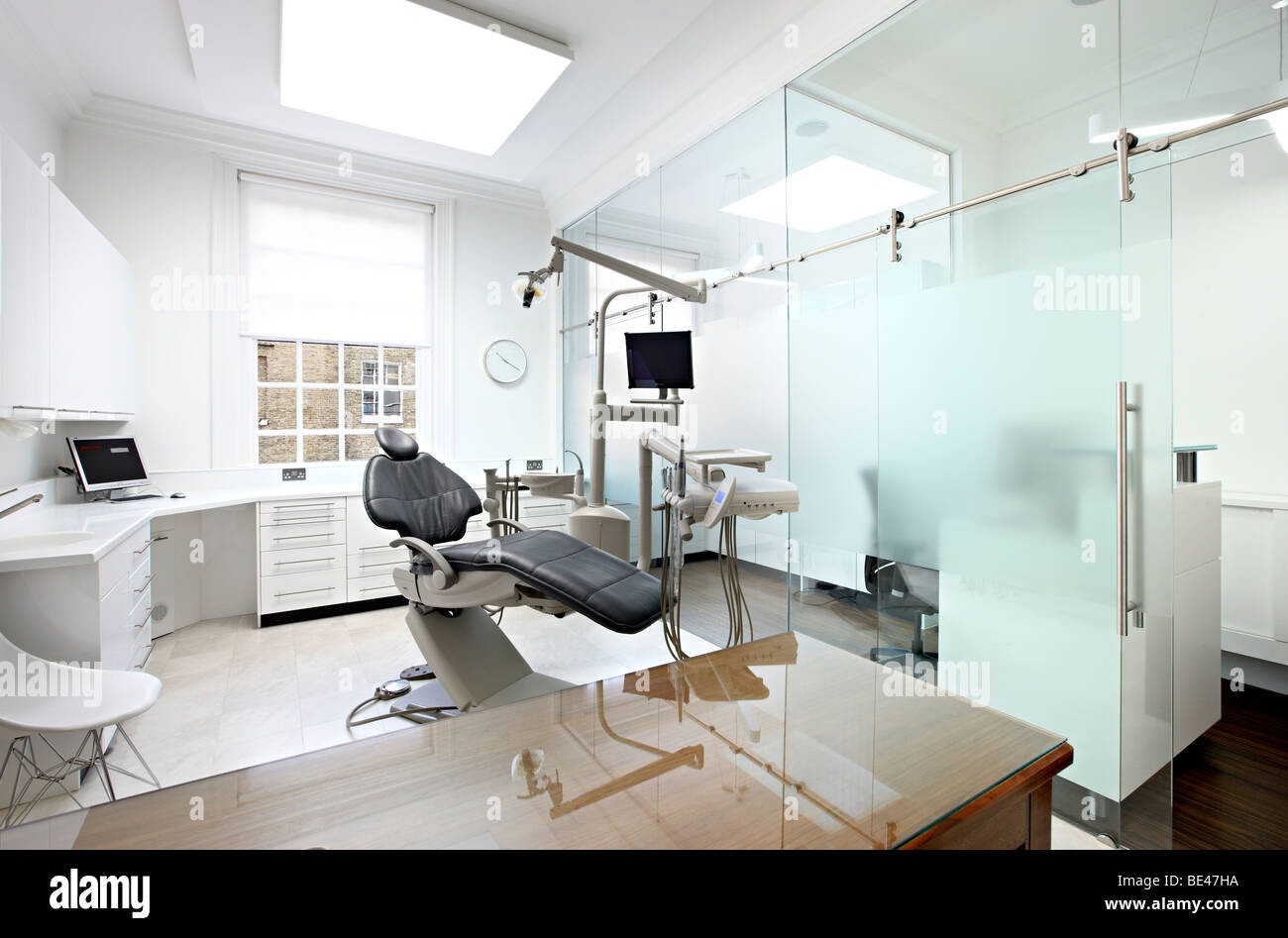 Modern designed dentist surgery hygienic - Stock Image