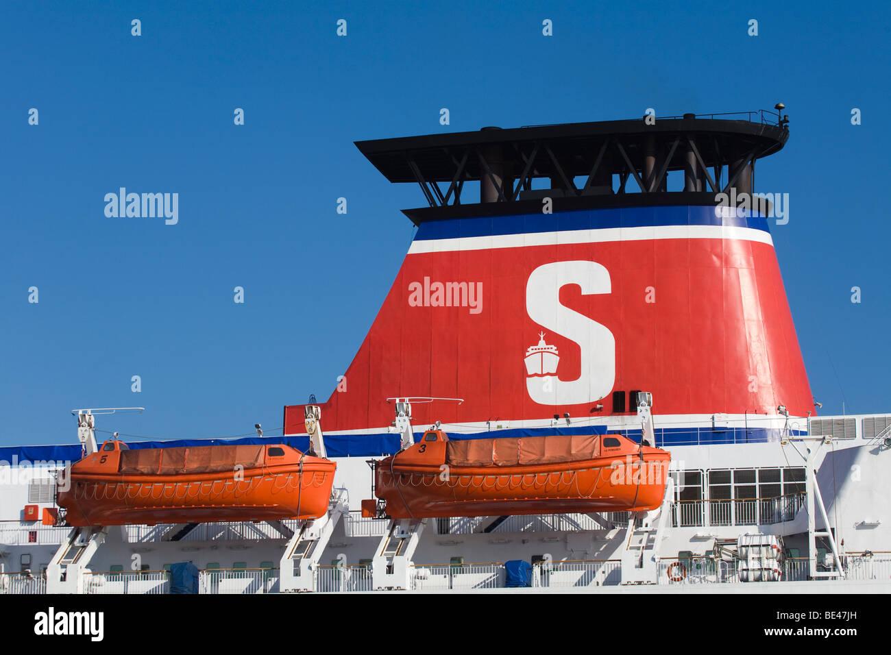 Stena-line Ferry Funnel - Stock Image