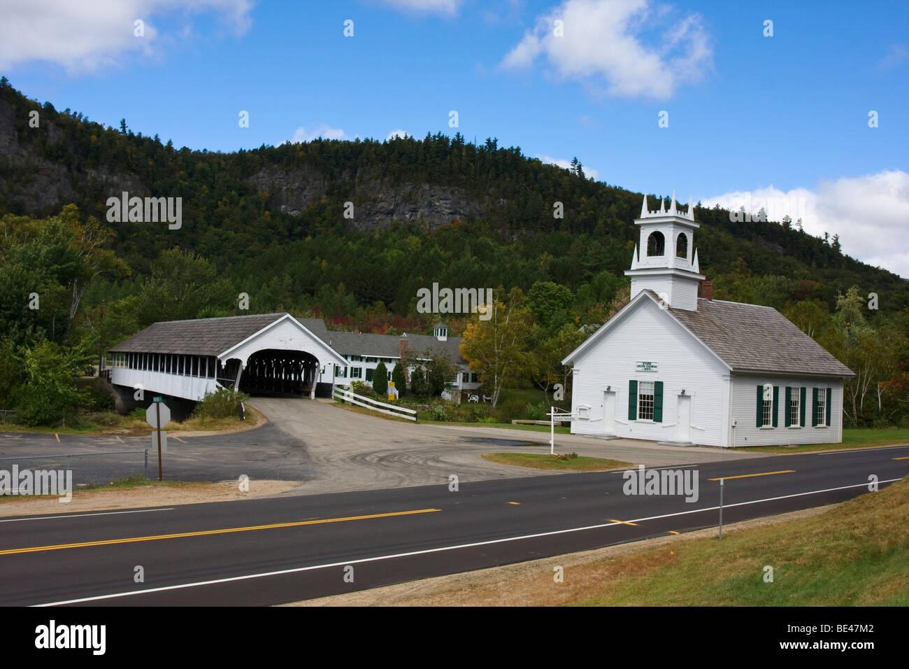 Stark Union Church, Stark, New Hampshire - Stock Image