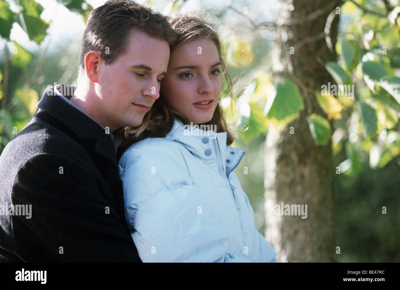 Couple in love but he is much older  SerieCVS100024117 - Stock Image