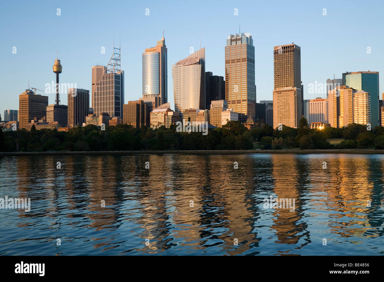 View of the Sydney city skyline at dawn. Sydney, New South Wales, AUSTRALIA - Stock Image