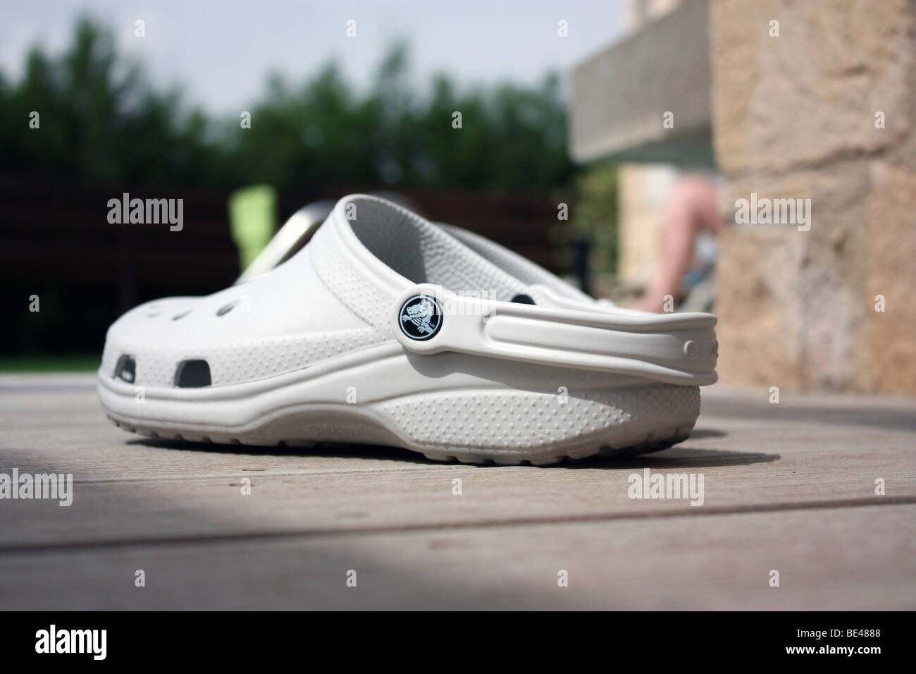 A pair of Crocs footwear - Stock Image