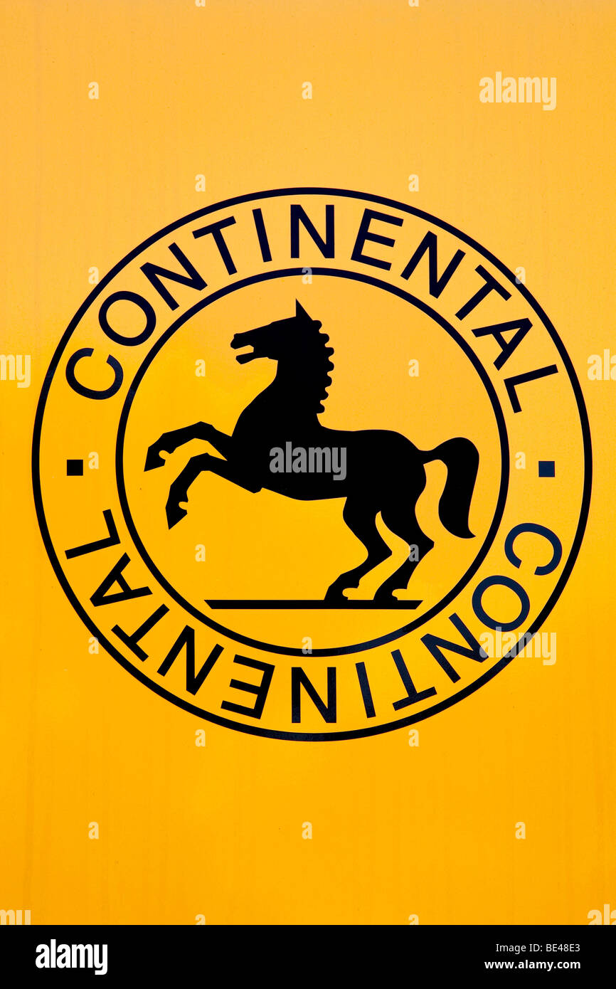 Logo of the Continental Automotive GmbH company in Regensburg, Bavaria, Germany, Europe - Stock Image