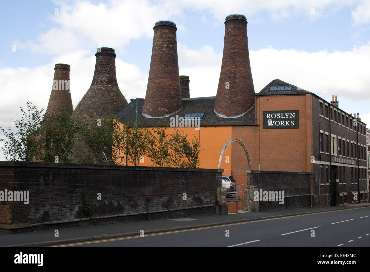 Roslyn Works, Pottery Factory, Longton, Stoke-on-Trent - Stock Image