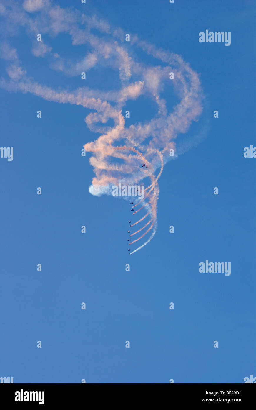 RAF Falcons display at Bournemouth Air Festival - Stock Image