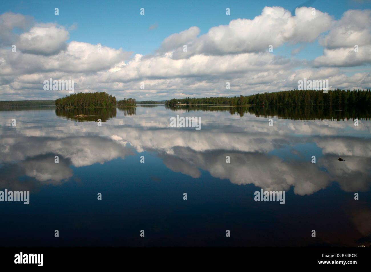 Lake landscape, Lapland, Finland, Europe - Stock Image