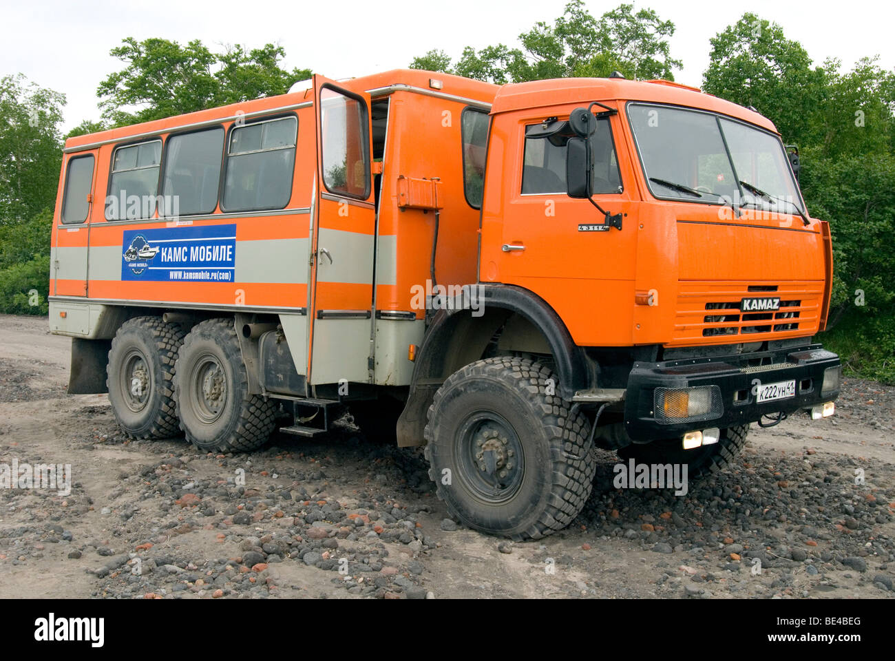 Kamaz 6-wheel drive truck, Kamchatka, Russian Far East - Stock Image