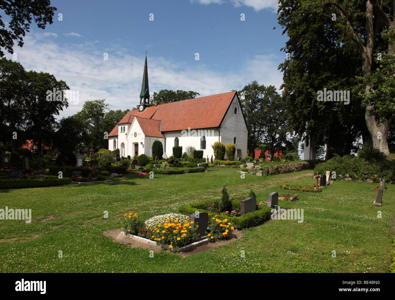 St. Wilhadi Church, ULSNIS, ANGELN, SCHLESWIG-HOLSTEIN, Germany - Stock Image