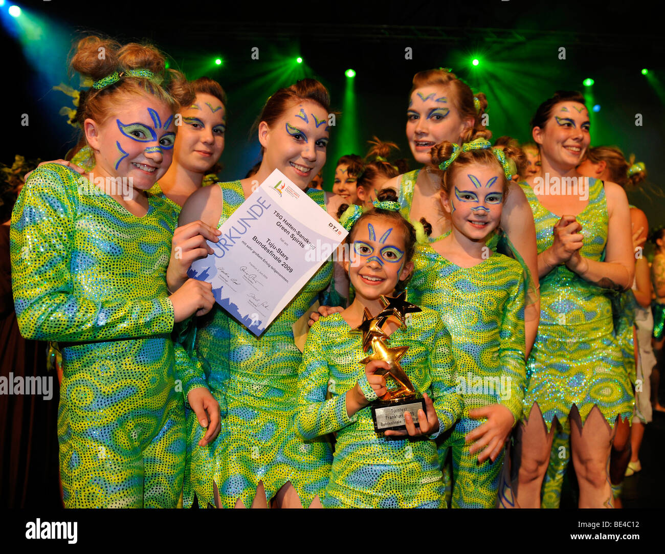 Gymnastics Youth National Finals review shows, awards ceremony, Internationales Deutsches Turnfest International Stock Photo