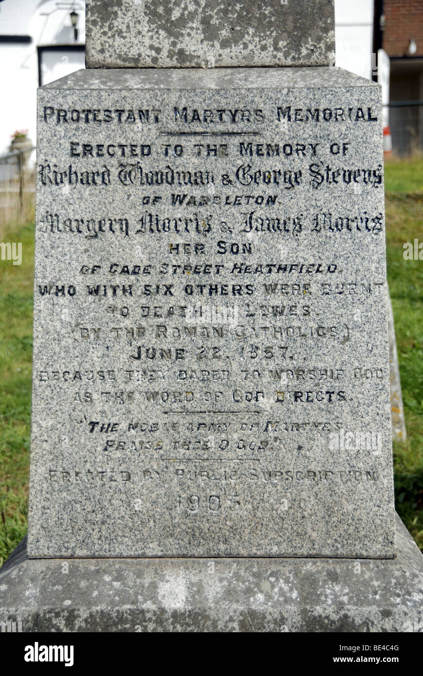 Protestant Martyrs Memorial - Stock Image