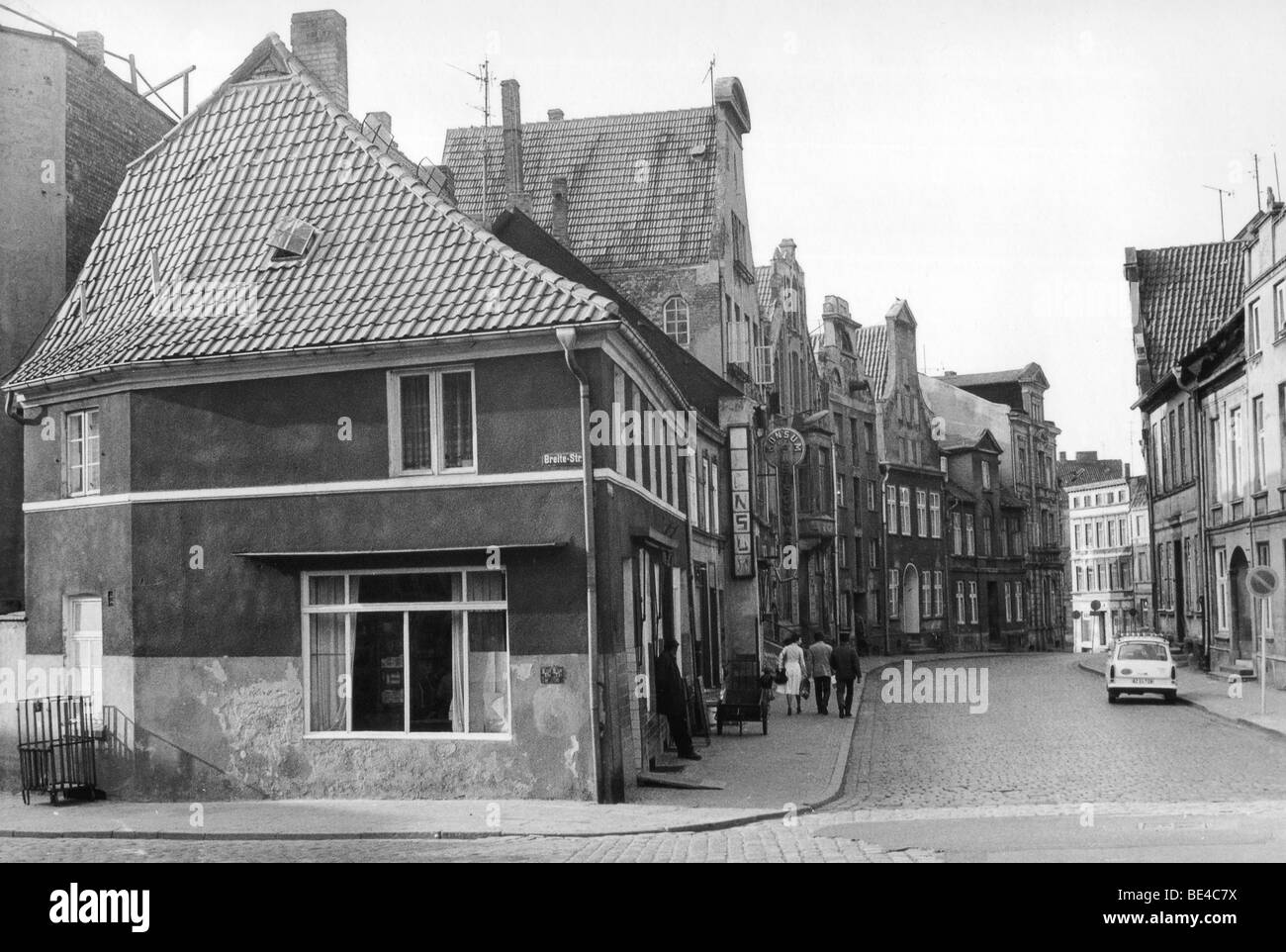 Wismar, GDR, East Germany, historical photo, about 1982 - Stock Image