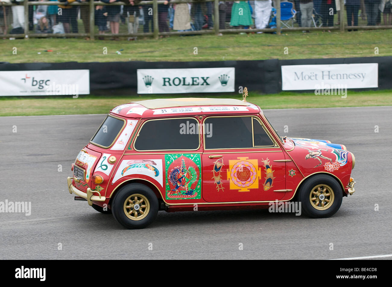 1966 Mini Cooper S belonging to George Harrison of the Beatles Stock Photo