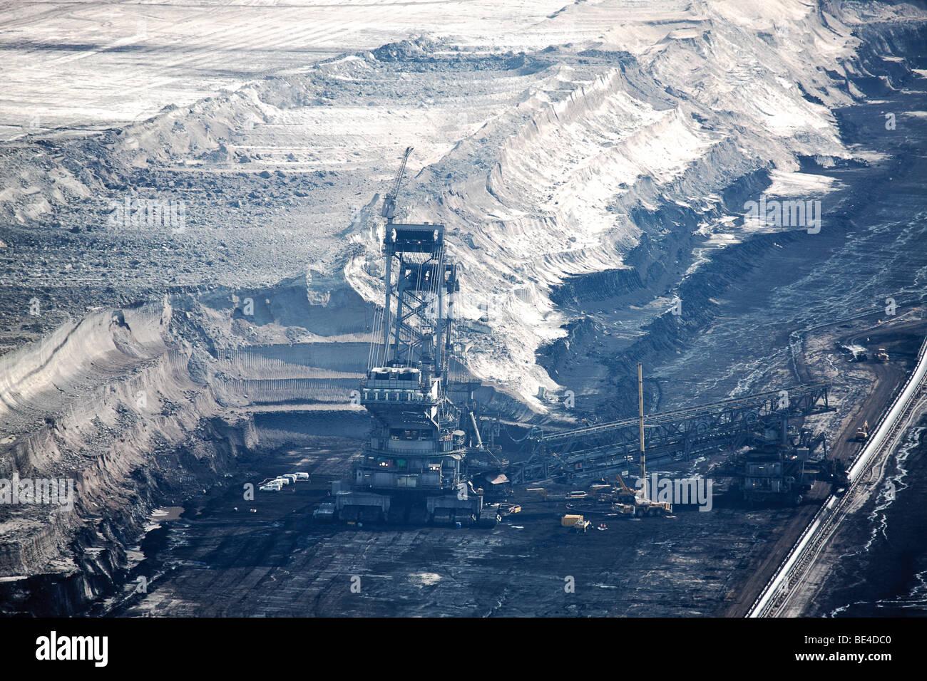 Hambach Tagebau, brown coal, Rhein-Erft-Kreis, North Rhine-Westphalia, Germany Stock Photo