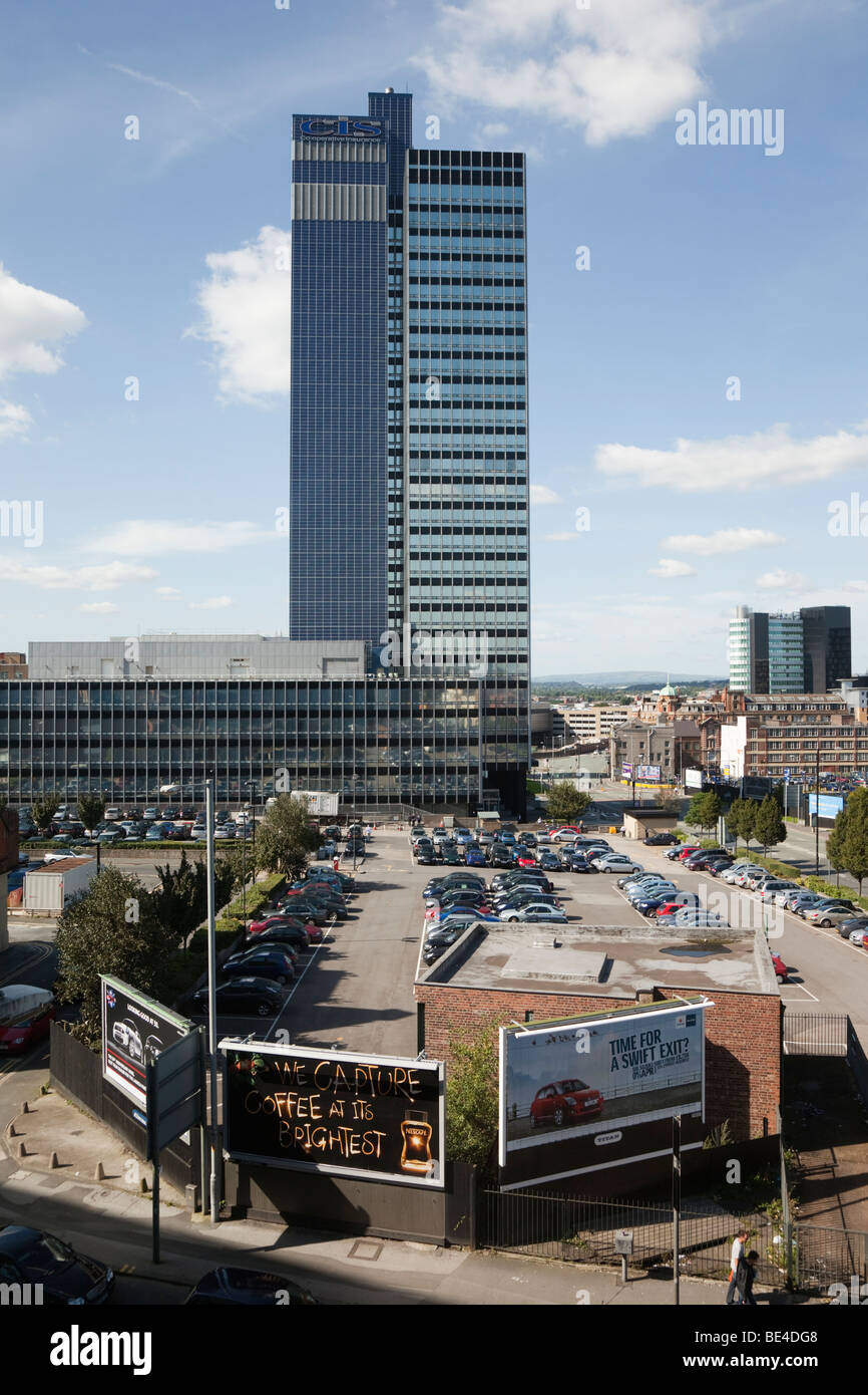 Manchester, England, UK, Britain. CIS Co-operative Insurance offices in modern high rise building near the city - Stock Image