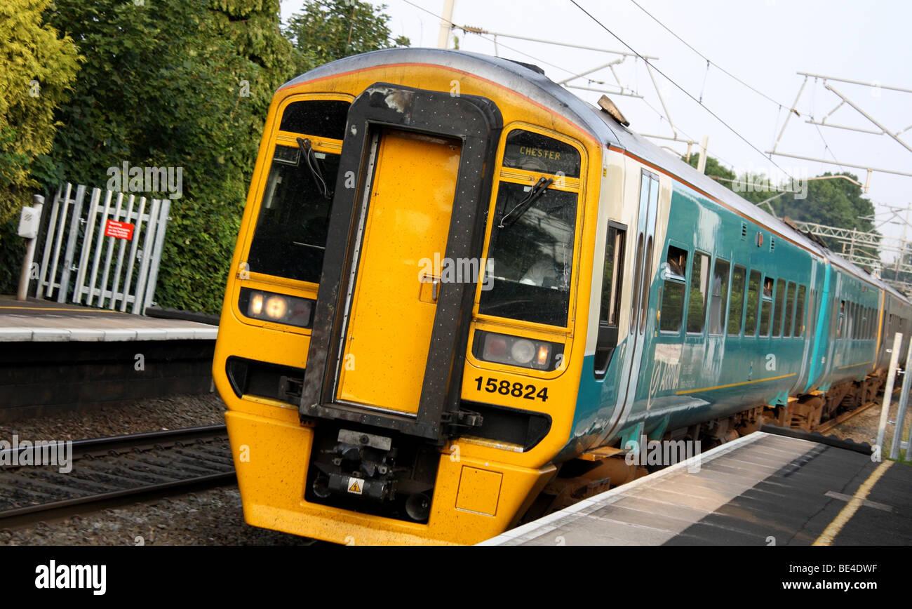 Train on Marston Green Rail Station Birmingham  England 2009 - Stock Image