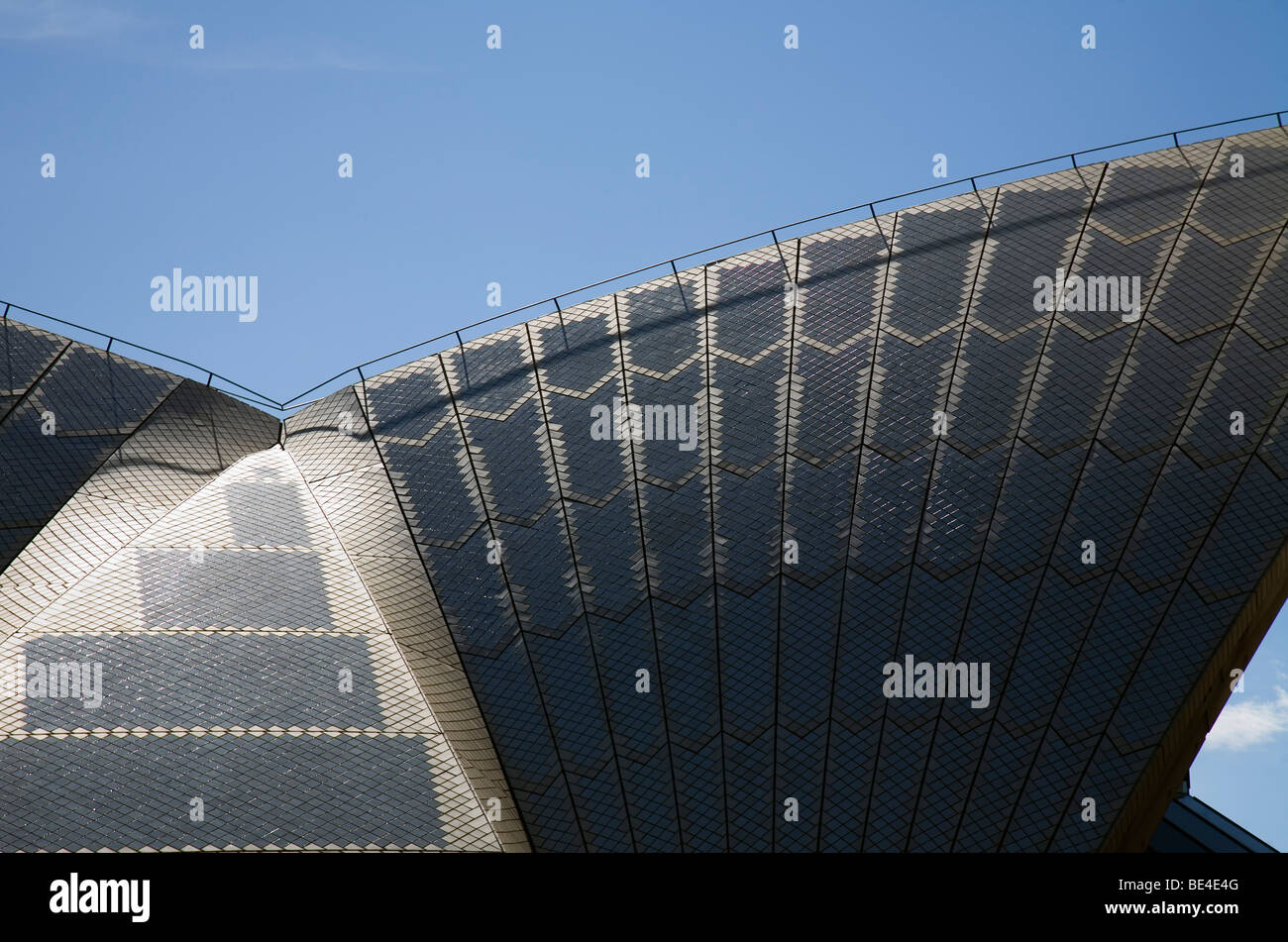 Sydney Opera House roof detail. Sydney, New South Wales, AUSTRALIA - Stock Image