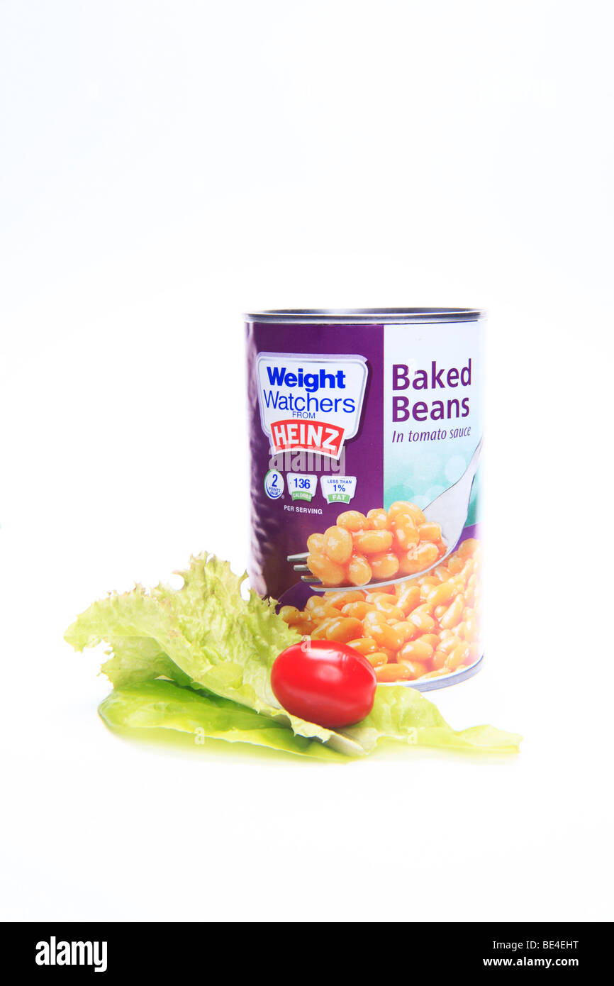 A Tin of Weightwatchers Baked Beans Slimming Concept - Stock Image