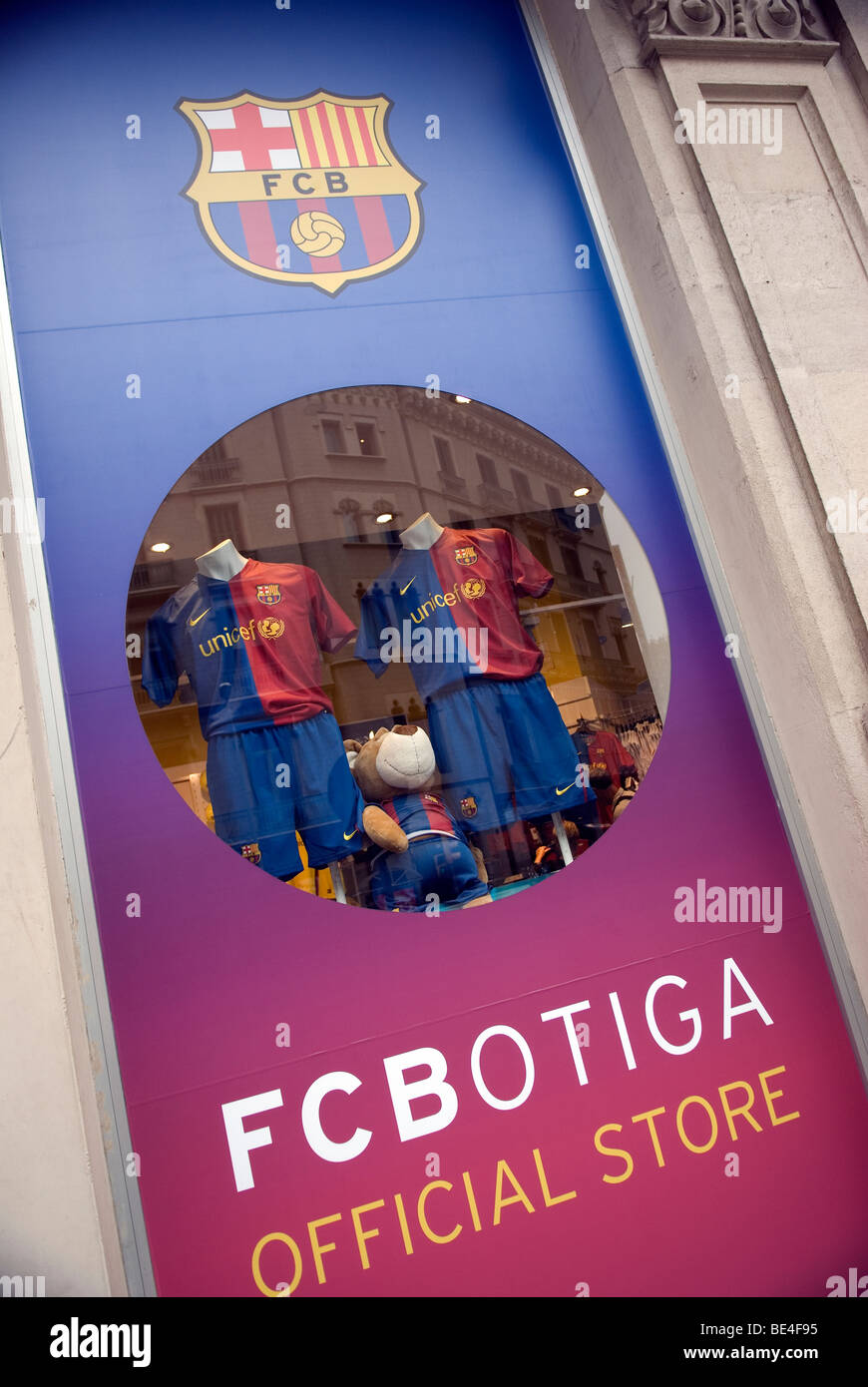 Barcelona Football Club store - Stock Image