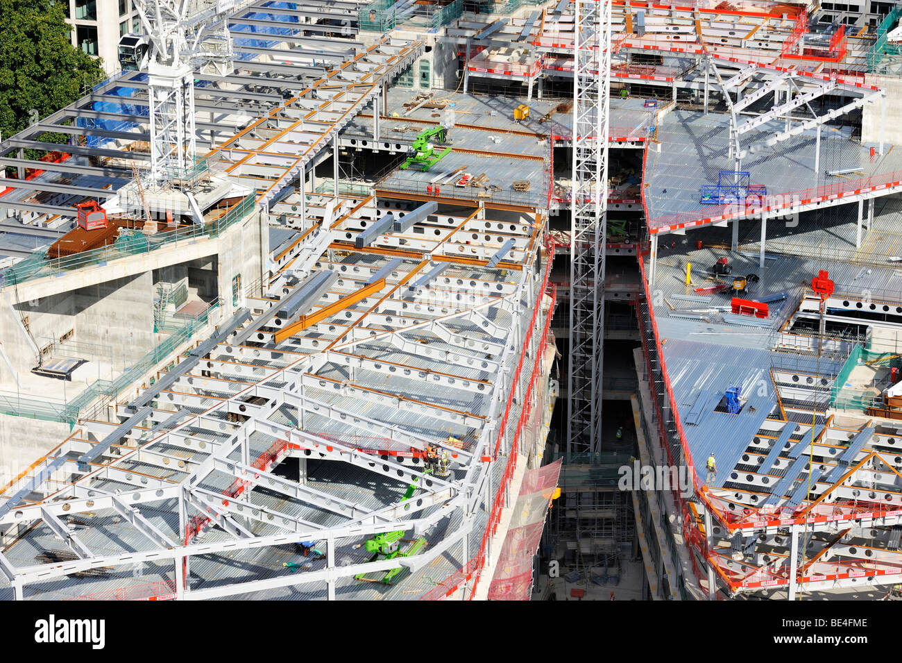 Construction site of an office building in downtown London, England, United Kingdom, Europe - Stock Image