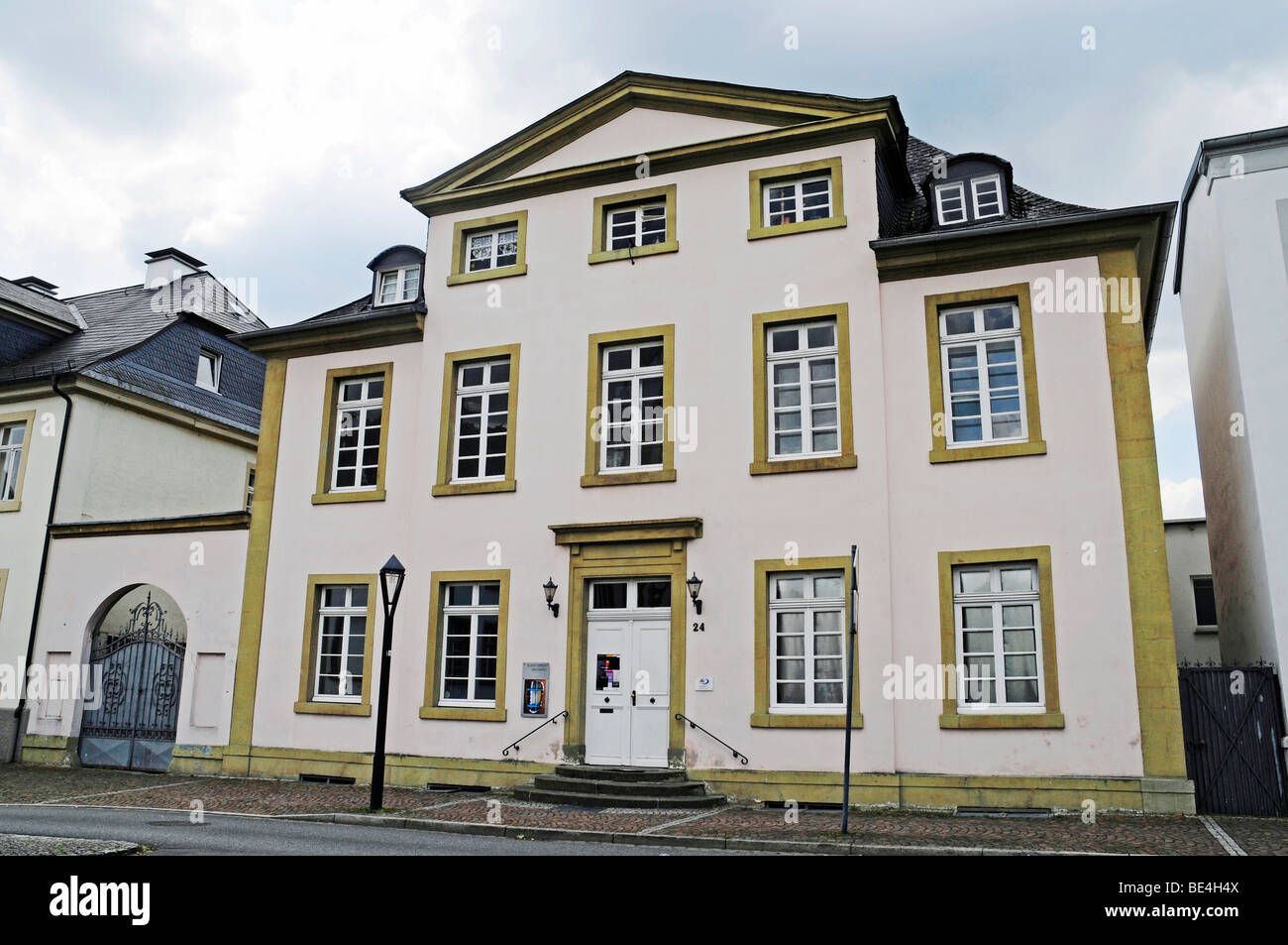 Kunstverein art association, exhibitions, art, culture, neo-classical Buergerhaus venue, Arnsberg, Sauerland region, - Stock Image