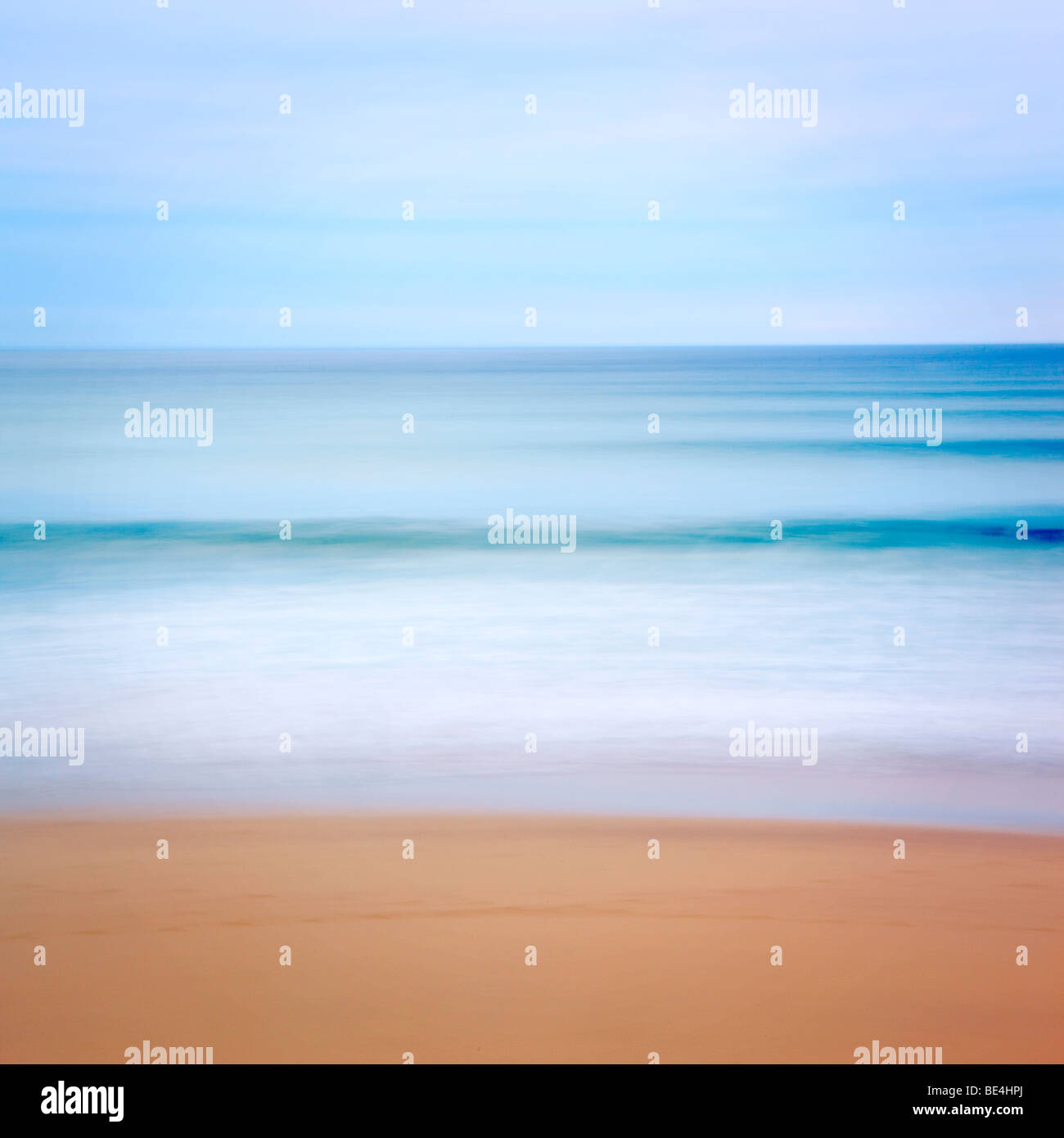 Impressionistic interpretation of a Hebridean beach - Stock Image
