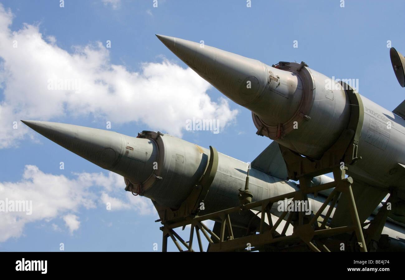 Soviet anti-aircraft missile 3M8 - Stock Image