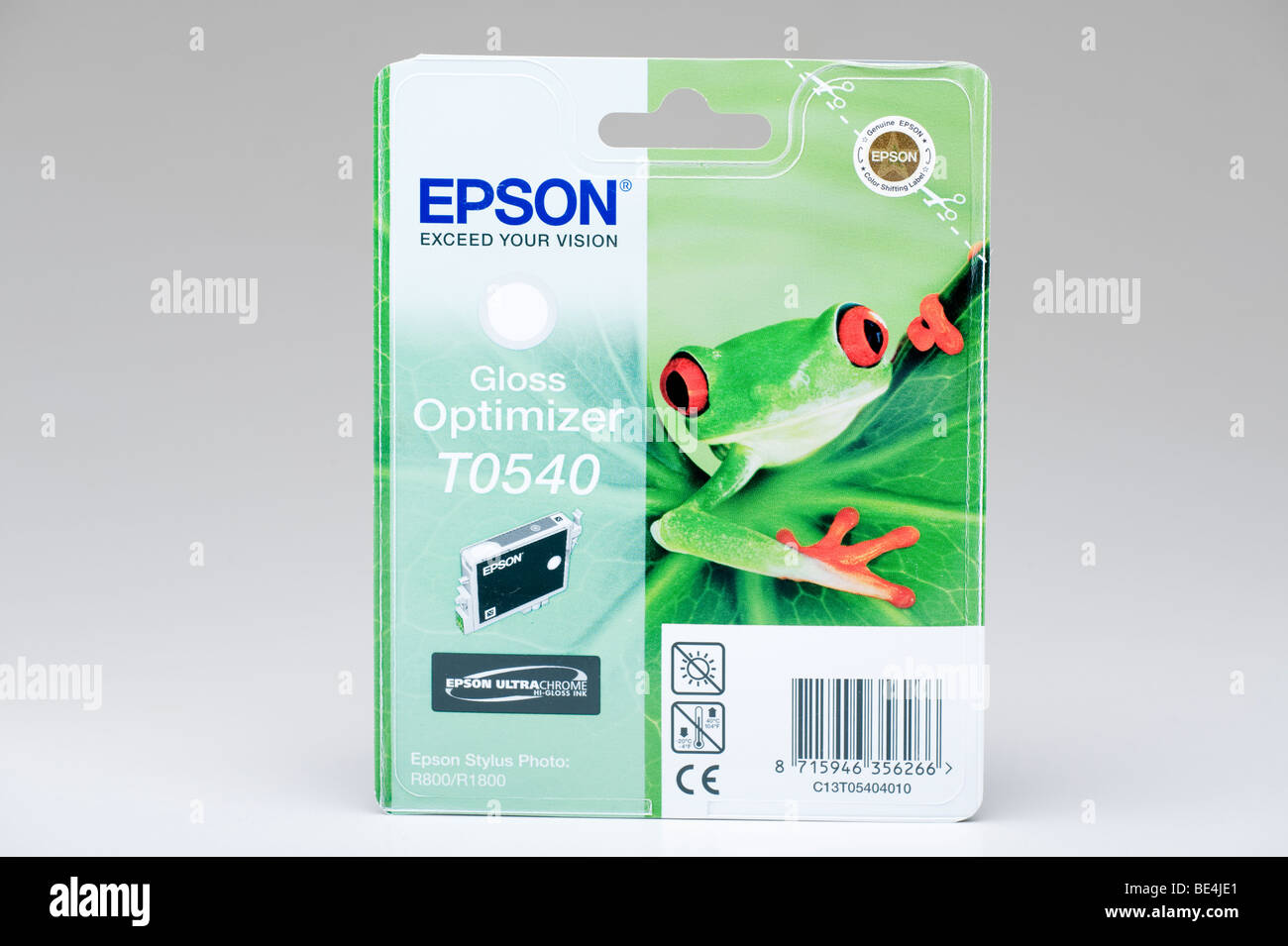 Epson sealed printer color cartridge packet - Stock Image