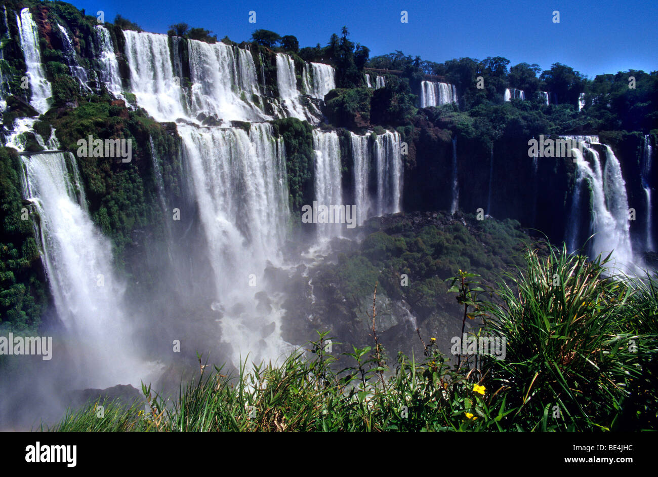 View from San Martin Island balcony .Iguazu National Park Falls, Misiones province. Argentina - Stock Image
