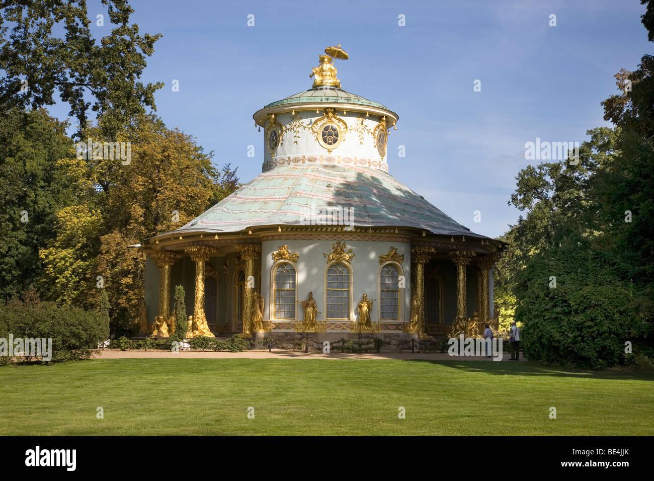 Chinese Tea House, Sanssouci Park, Potsdam, Brandenburg, Germany - Stock Image