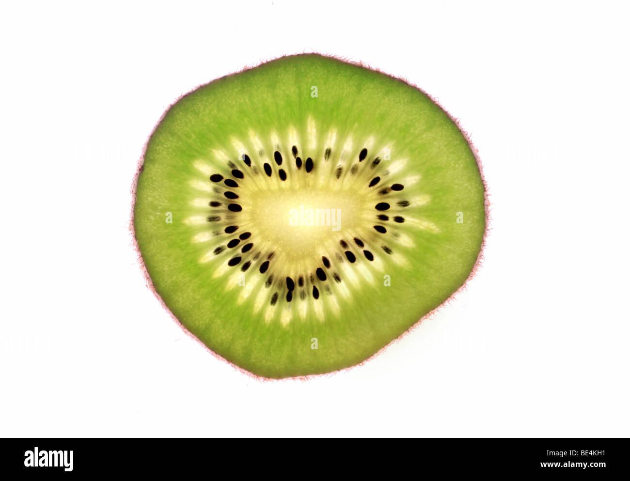 Slice of the kiwi fruit - Stock Image