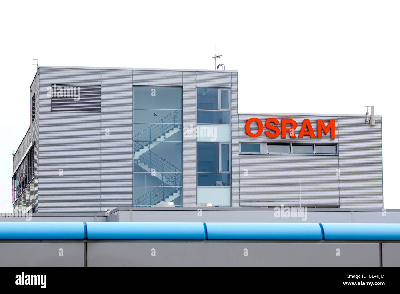 Production site of the Osram Opto Semiconductors company in Regensburg, Bavaria, Germany, Europe - Stock Image