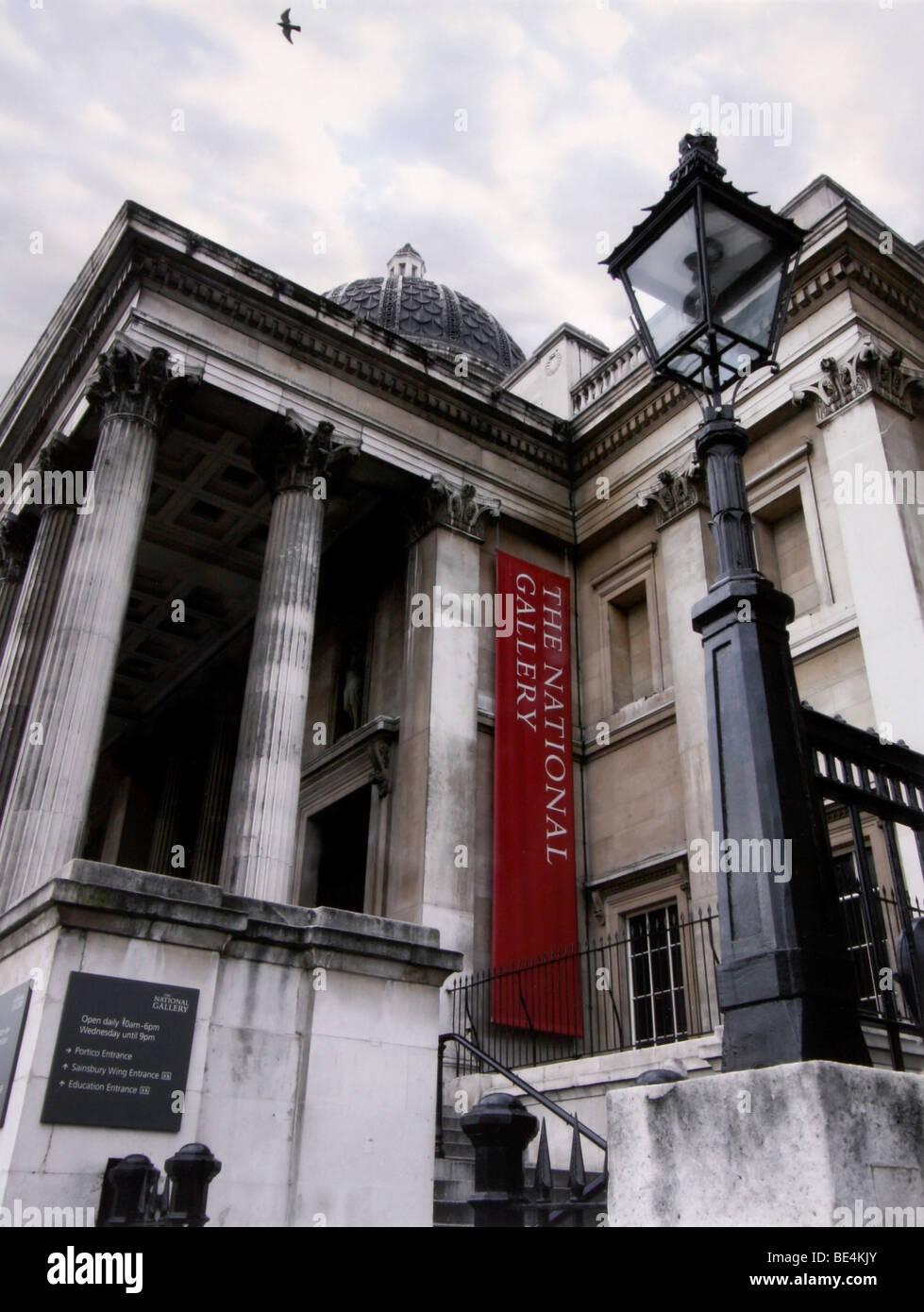 National Gallery, London, England, United Kingdom, Europe - Stock Image
