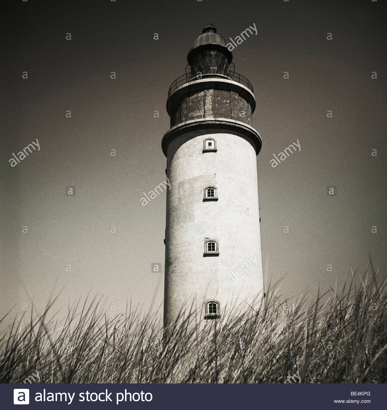 Denmark, Anholt - Low angle view of a lighthouse Stock Photo
