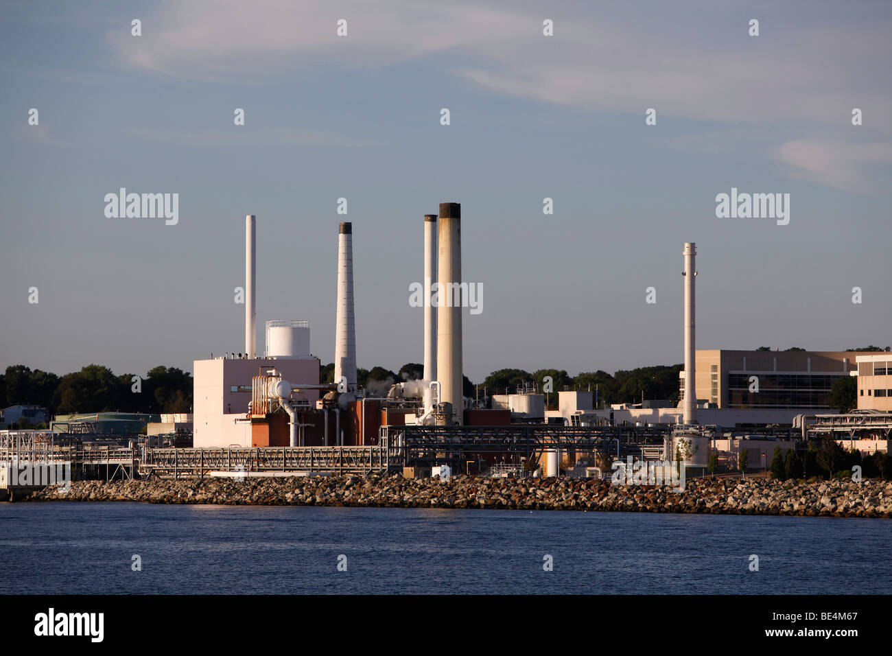 industrial power plant, New London, Connecticut - Stock Image