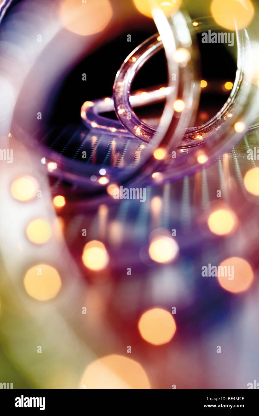LED light tube, chain of lights, Christmas illumination - Stock Image