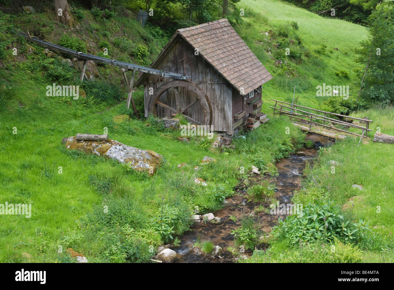 Schembach mill, built 1770, Reichenbachtal Valley, Black Forest, Baden-Wuerttemberg, Germany, Europe - Stock Image