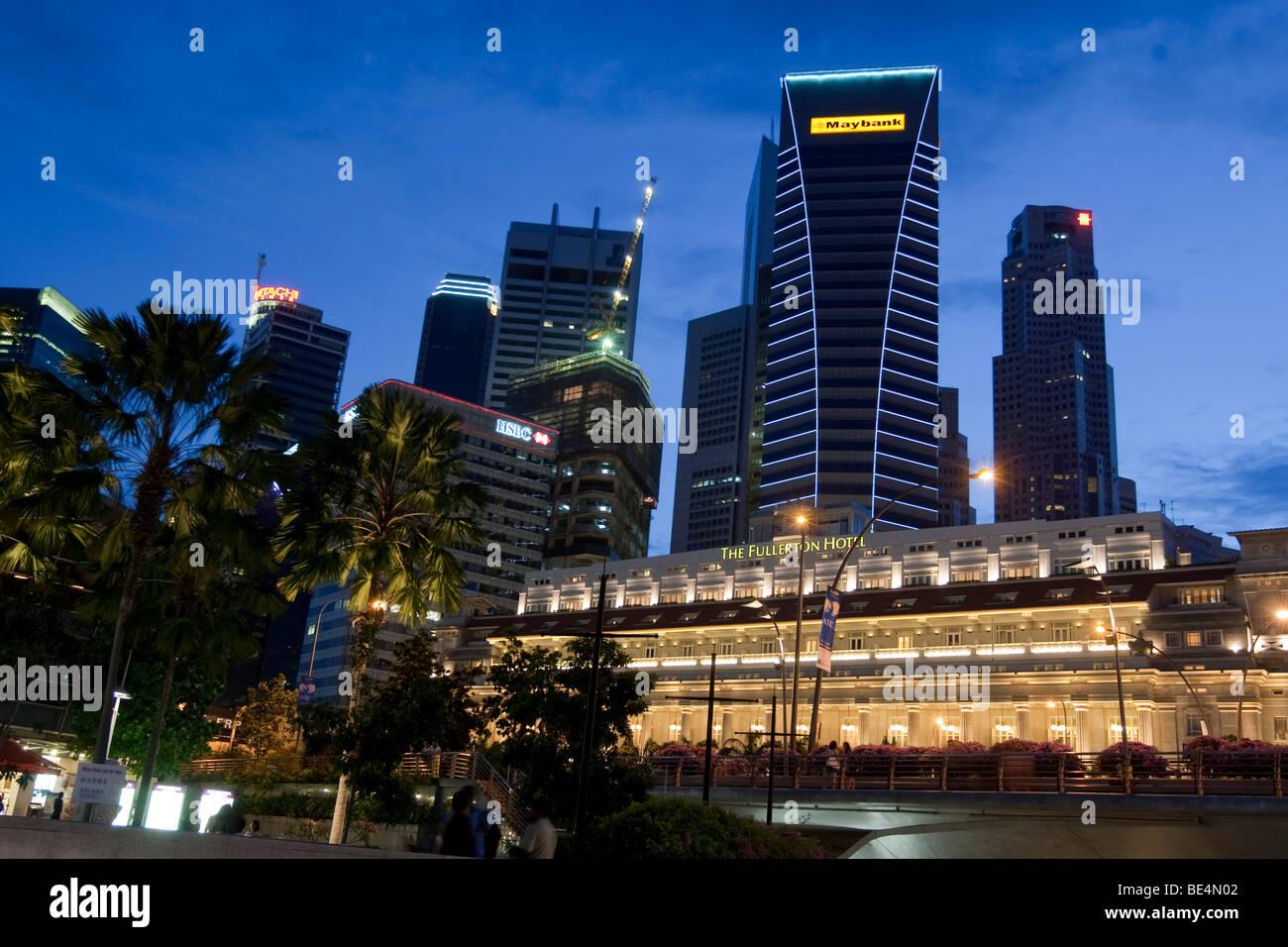 THE FULLERTON HOTEL SINGAPORE, five star luxury hotel, Singapore, Southeast Asia - Stock Image