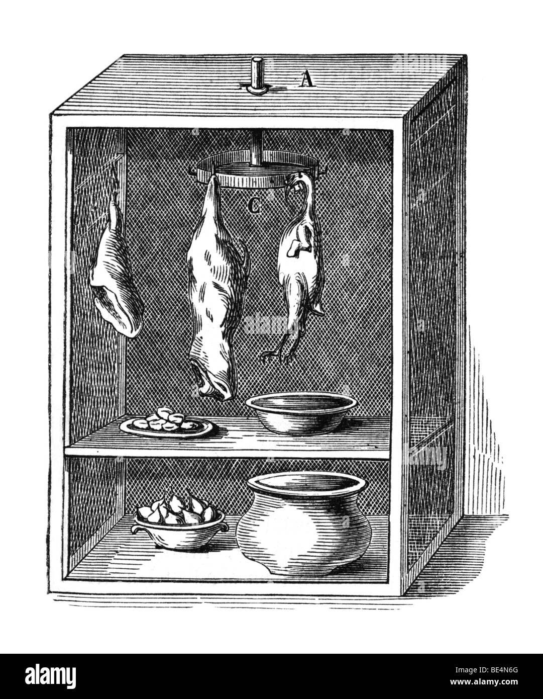 Fly Box, historical illustration from: Marie Adenfeller, Friedrich Werner: Illustriertes Koch- und Haushaltungsbuch, - Stock Image
