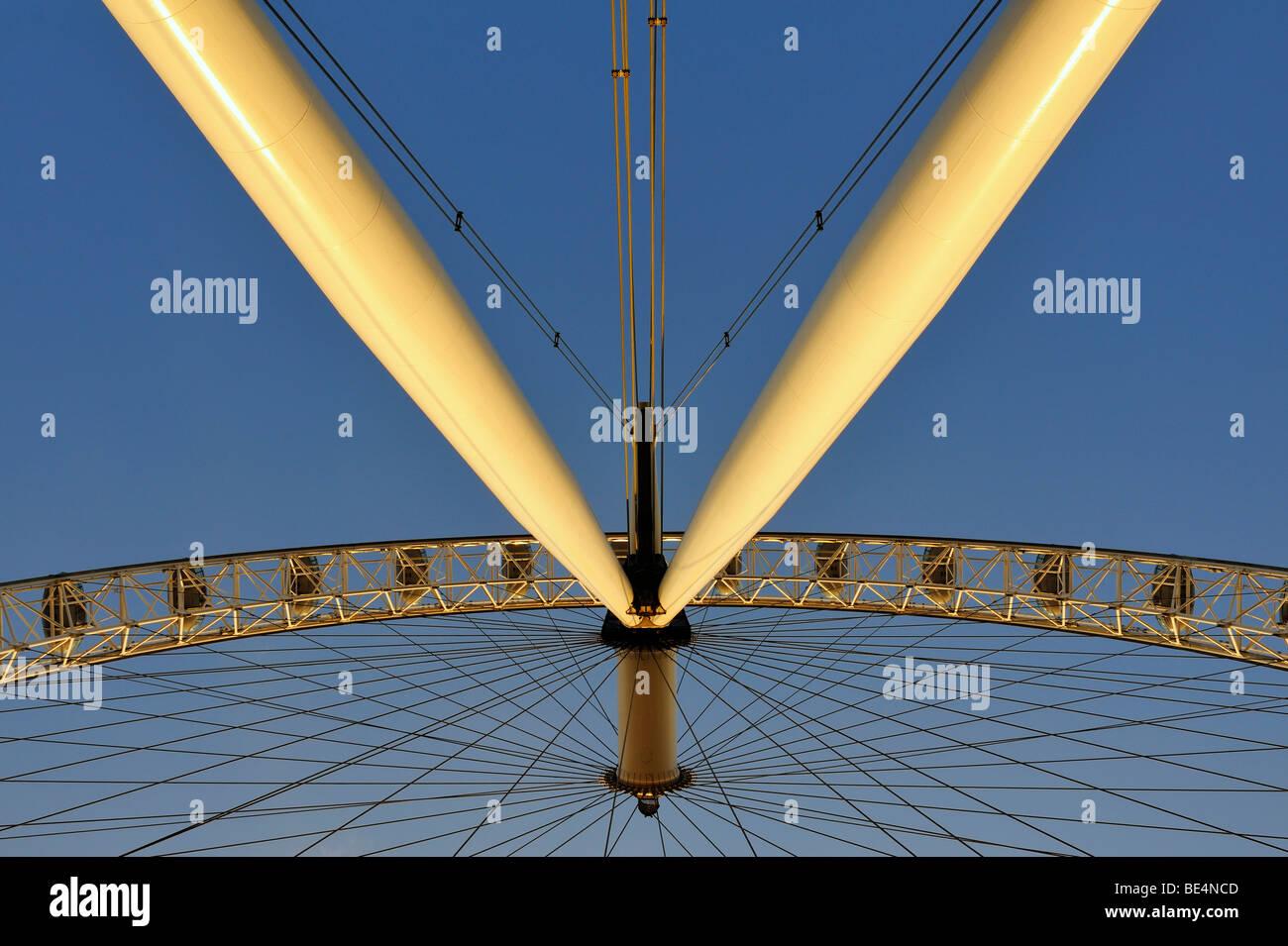 Detail of the London Eye or Millennium Wheel, London, England, United Kingdom, Europe Stock Photo
