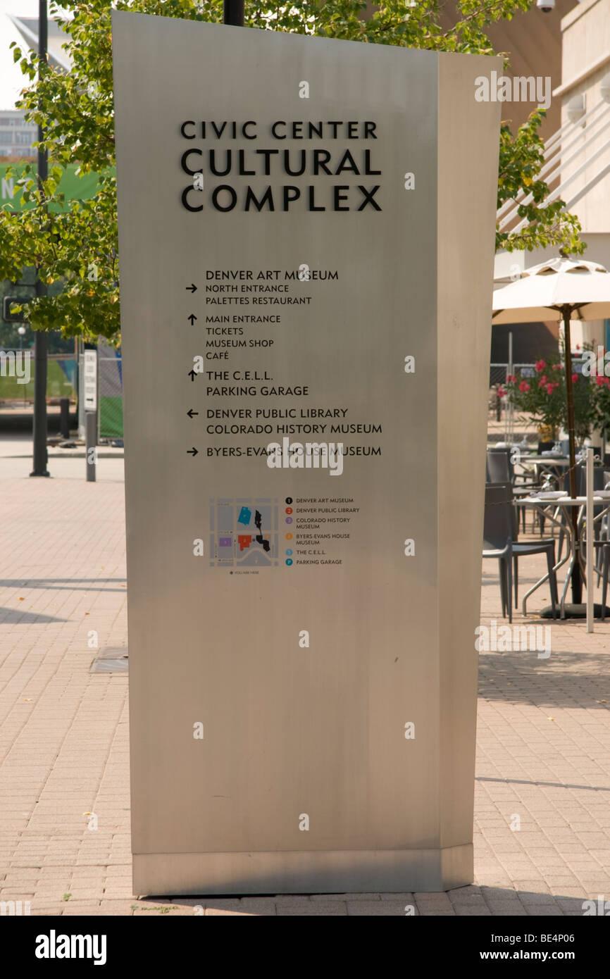 Denver Civic Center Cultural Complex, Colorado, USA - Stock Image