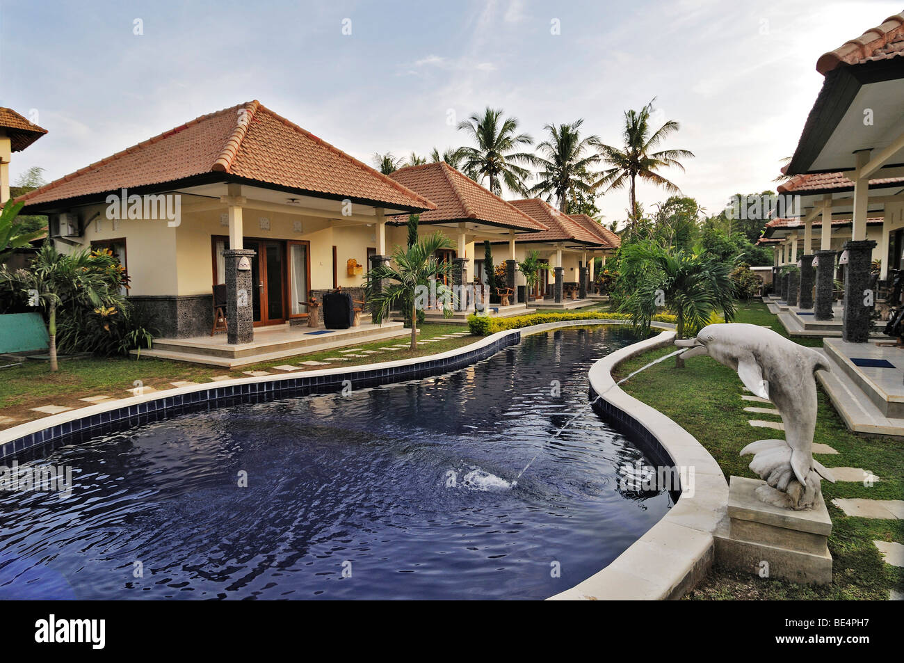 Bungalow complex of Jupp Palling near Denpasar, Bali, Indonesia, Southeast Asia Stock Photo