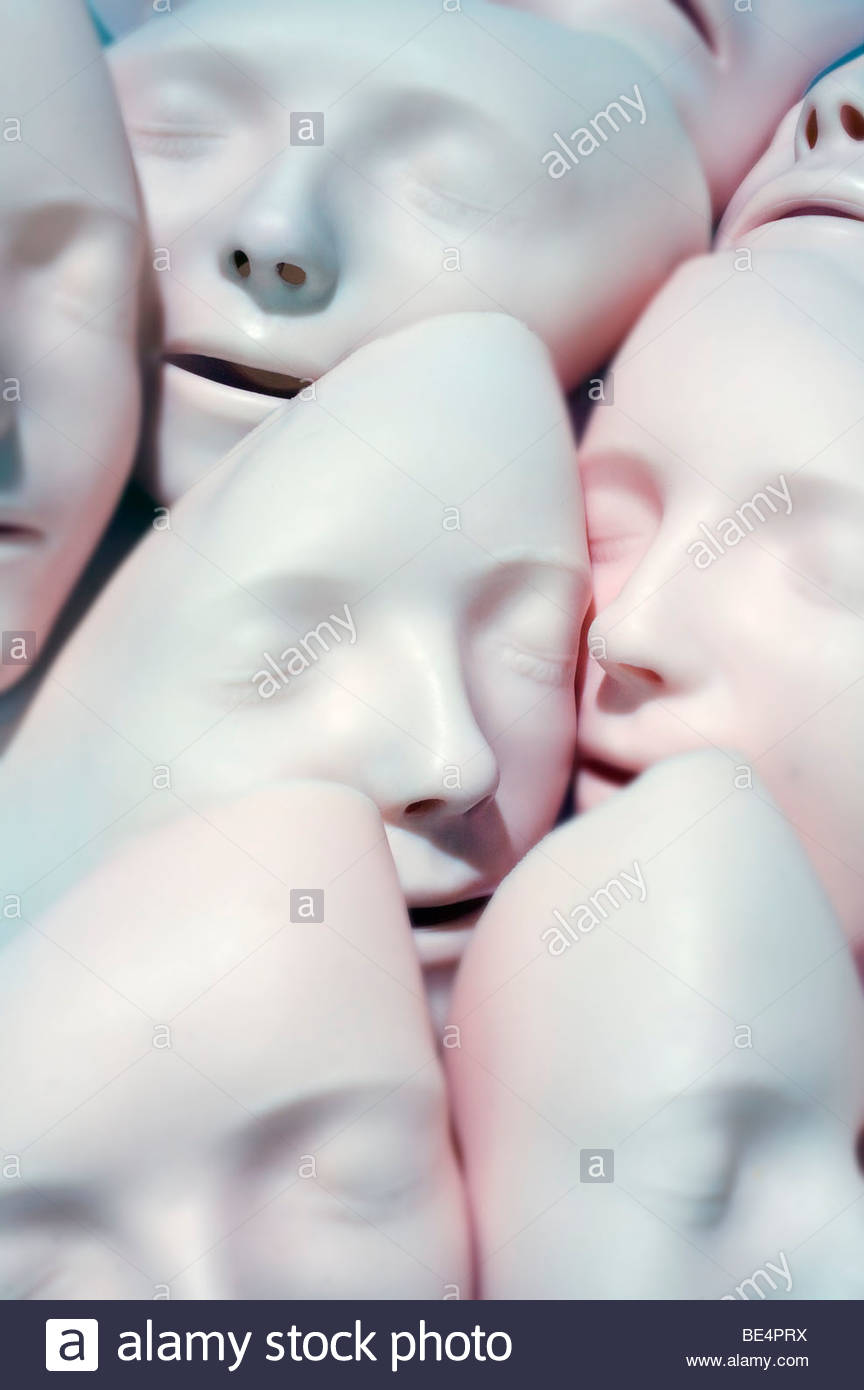 Close-up of face masks - Stock Image