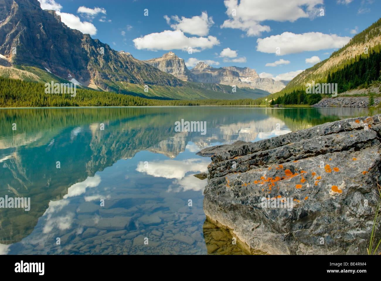 Waterfowl Lake, Banff National Park Alberta Canada - Stock Image