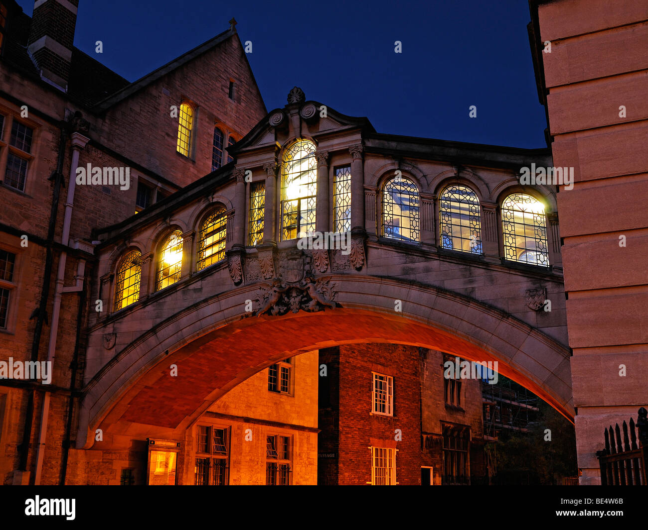 Bridge of Sighs, New College Lane, Oxford, England, United Kingdom. - Stock Image