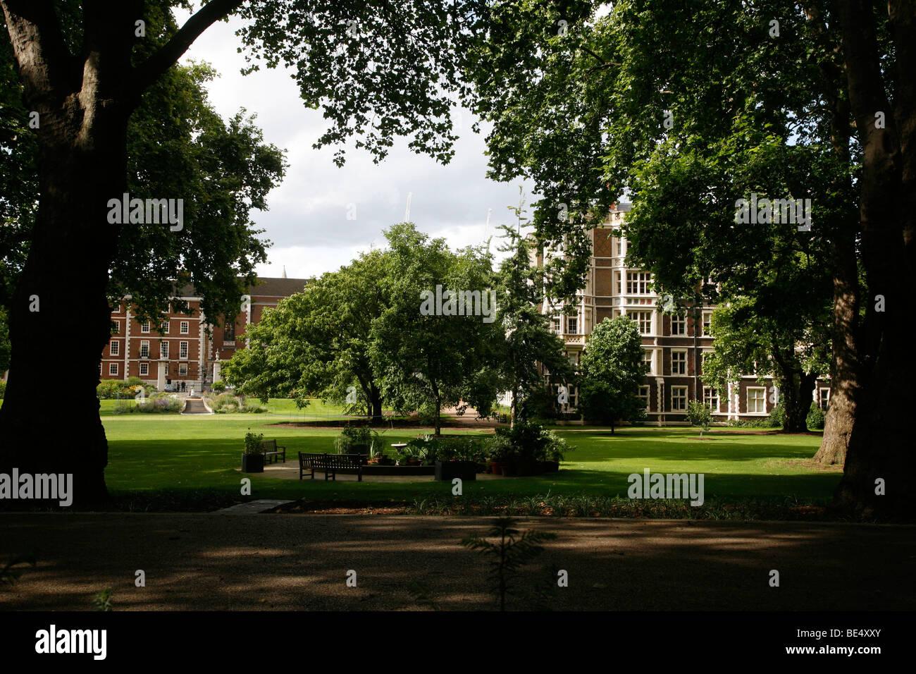 Inner Temple Garden, Inner Temple, Inns of Court, London, UK - Stock Image