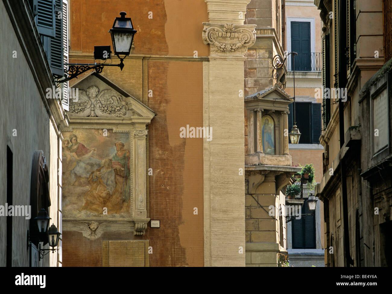 Holy painting, fresco, church of Santa Maria sopra Minerva, Rome, Lazio, Italy, Europe Stock Photo