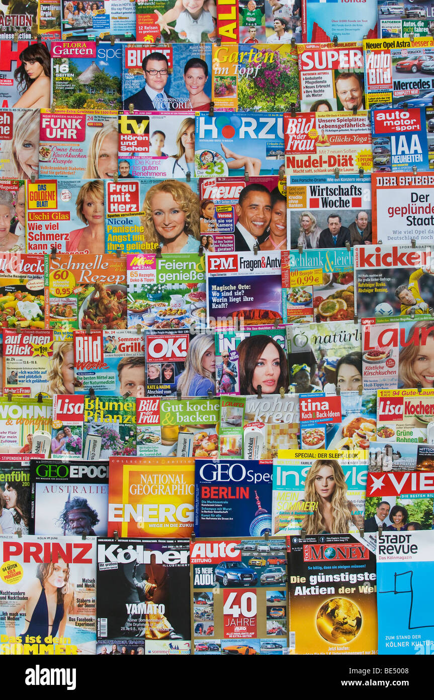 Covers of German journals and magazines - Stock Image