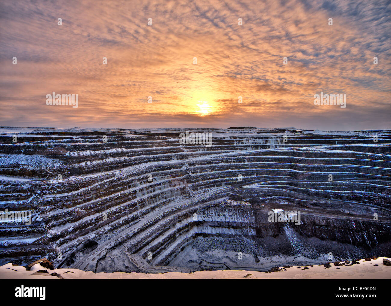 Ore mine in Gaellivare, Sweden, Scandinavia, Europe - Stock Image
