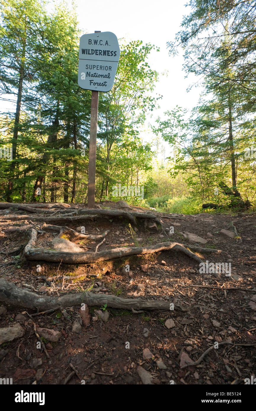 TRAIL LEADING INTO BOUNDARY WATERS CANOE AREA - Stock Image