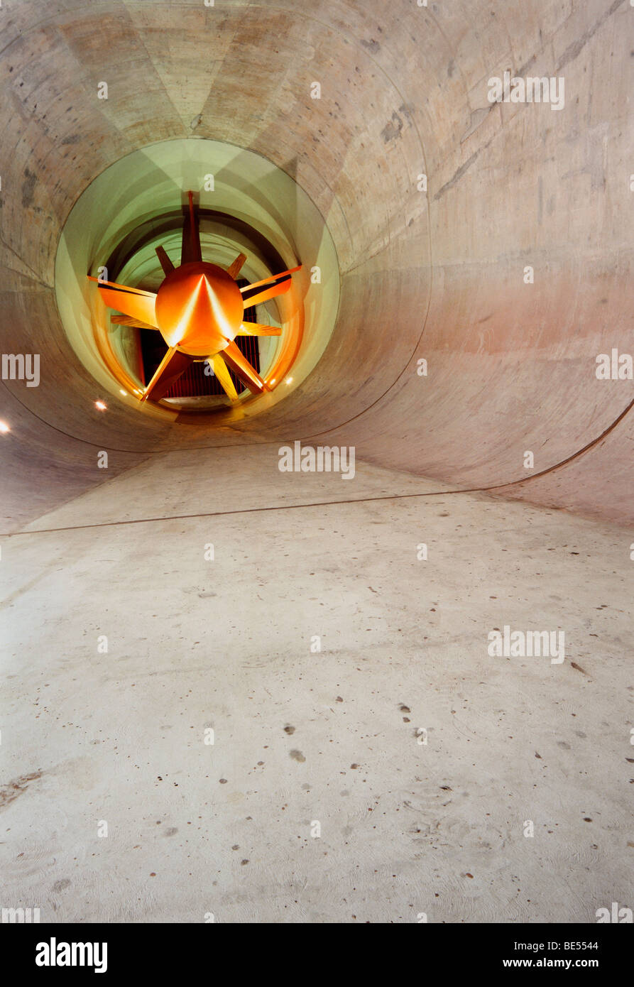 Inside of a Wind tunnel - Stock Image